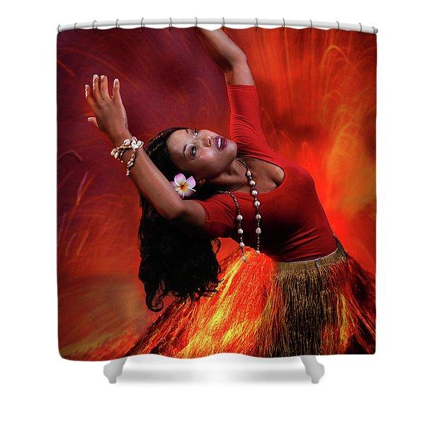 Goddess Pele Shower Curtain