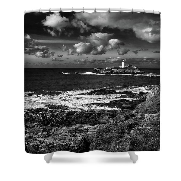 Godrevy Lighthouse 2 Shower Curtain