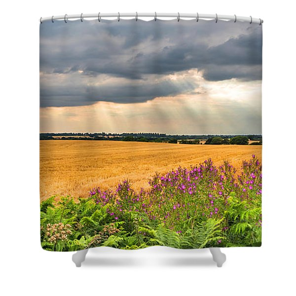 Shower Curtain featuring the photograph Gods Light by Nick Bywater