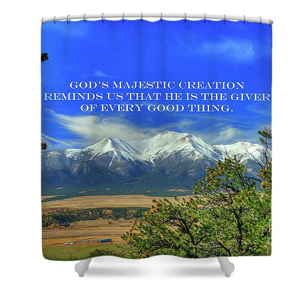 God's Majestic Creation Shower Curtain