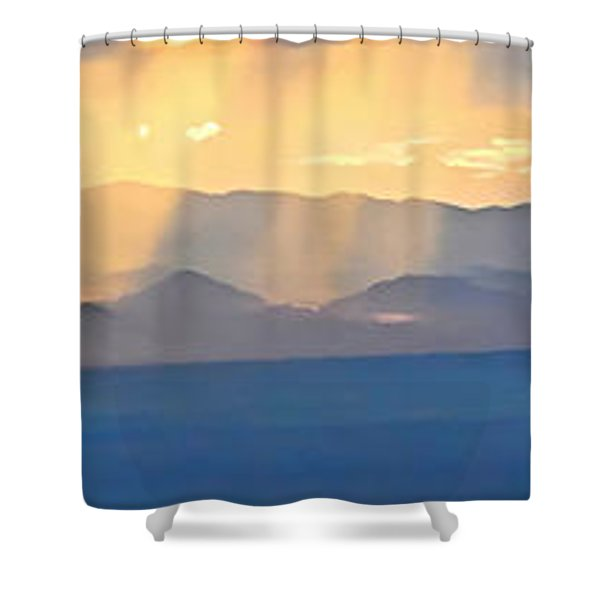 God's Rays Over The Great Basin  Shower Curtain