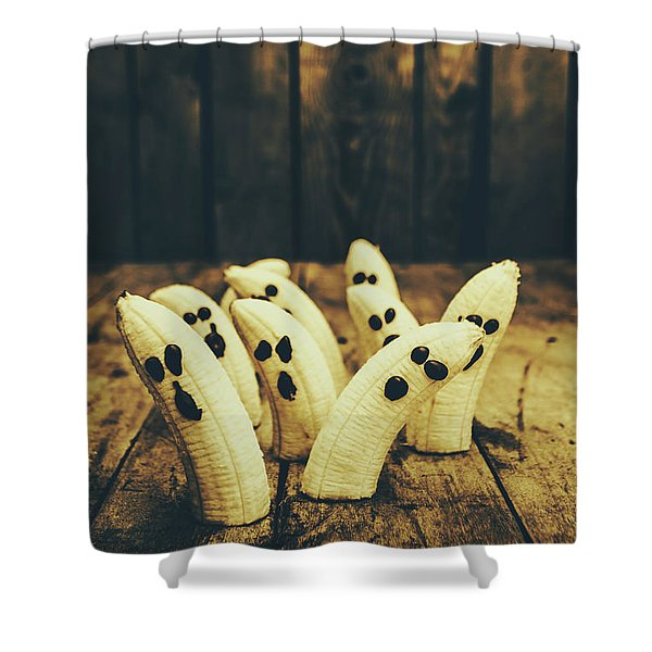 Going Bananas Over Halloween Shower Curtain