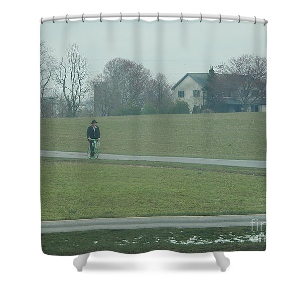 Going For A Visit Shower Curtain