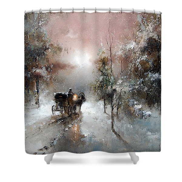 Going For Visit Shower Curtain
