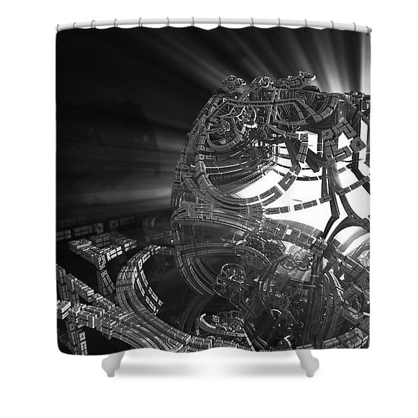 Going To Pieces Shower Curtain