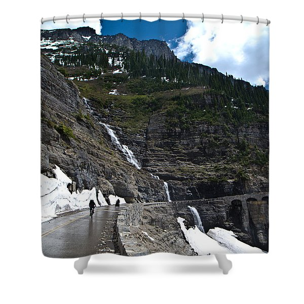 Going To The Sun Bike Ride Shower Curtain