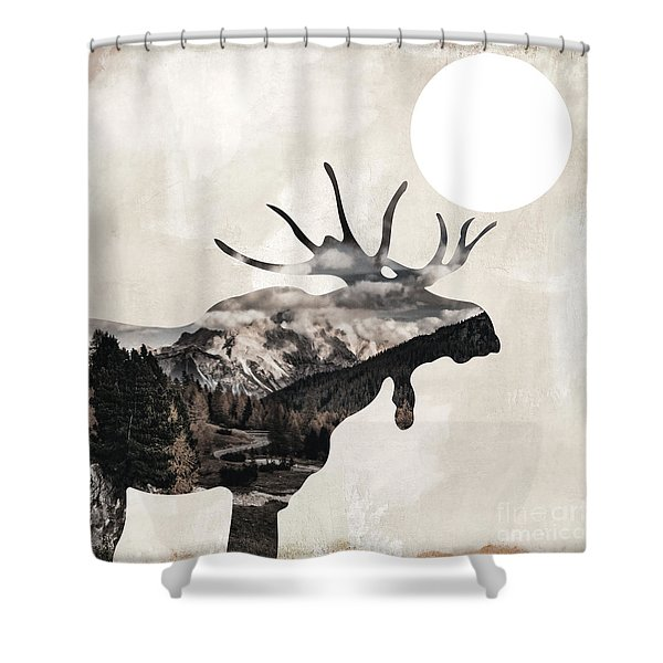 Going Wild Moose Shower Curtain
