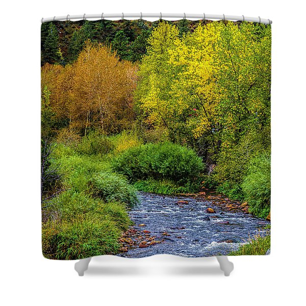 Going With The Flow Shower Curtain