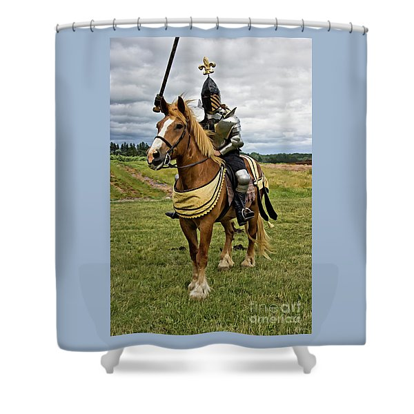 Gold And Silver Knight Shower Curtain