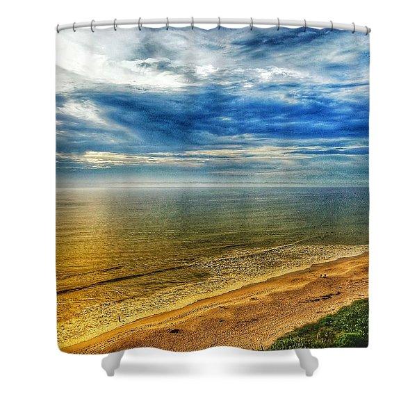 Gold Beach  Shower Curtain