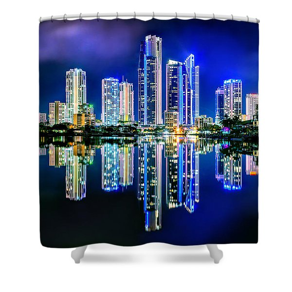 Gold Coast Reflections Shower Curtain
