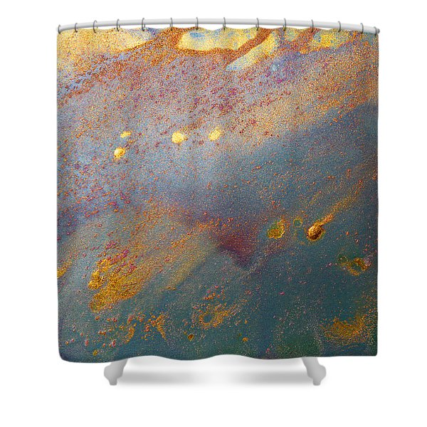 Gold Dust Abstract Painting Shower Curtain