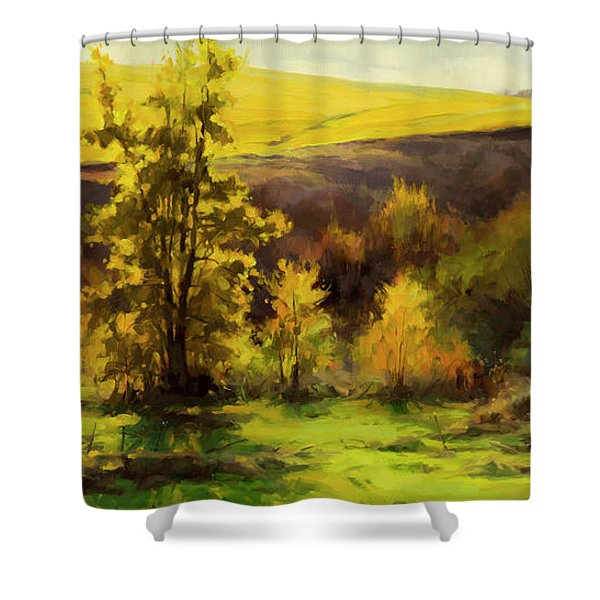 Gold Leaf Shower Curtain