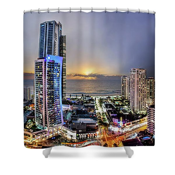 Gold Rising Shower Curtain