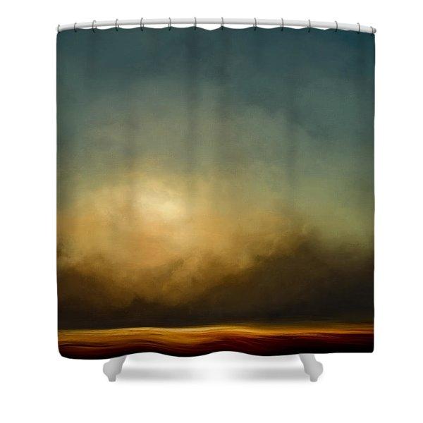 Gold Shift Shower Curtain