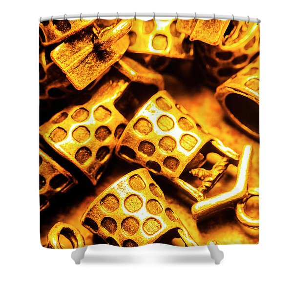 Gold Treasures Shower Curtain