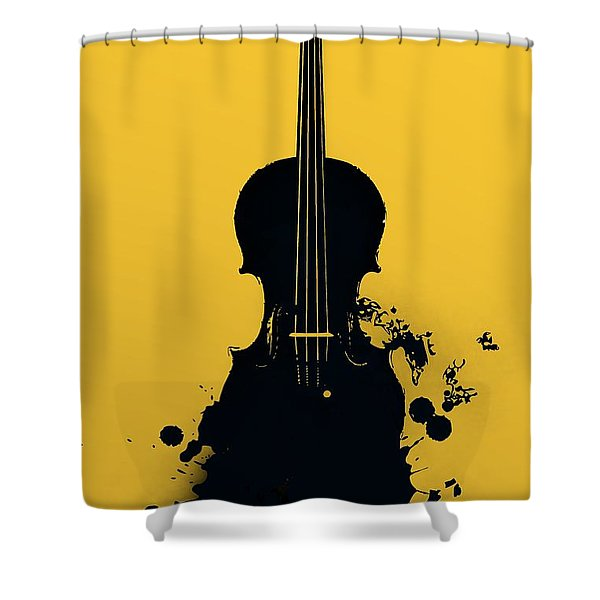 Gold Violin Shower Curtain