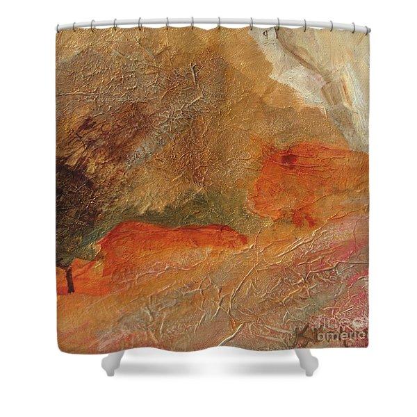Golden Amber Shower Curtain