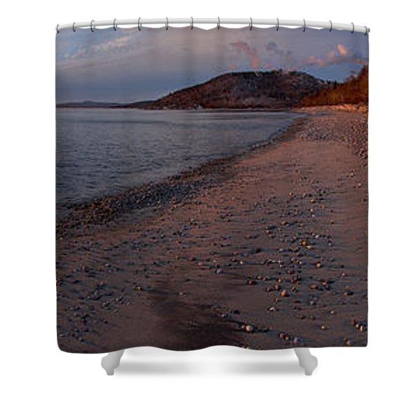 Golden Beach Shower Curtain