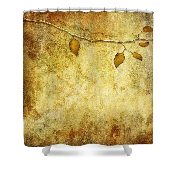 Golden Branch Of Hope  Shower Curtain