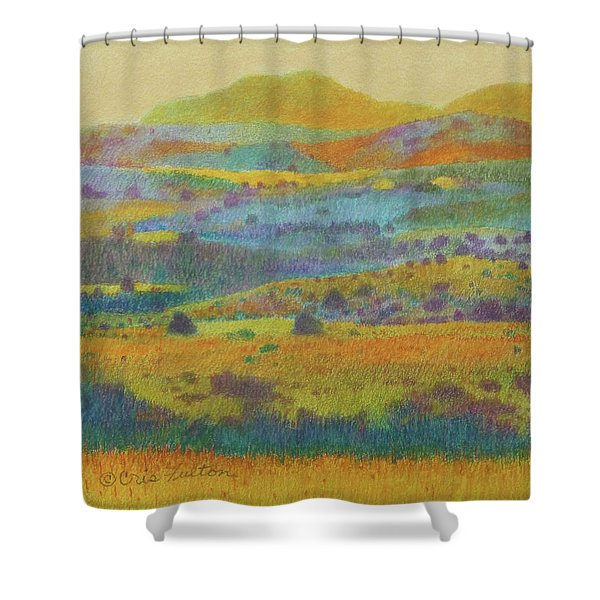 Shower Curtain featuring the painting Golden Dakota Day Dream by Cris Fulton