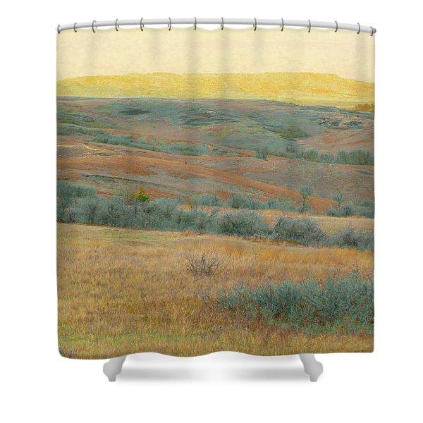 Golden Dakota Horizon Dream Shower Curtain