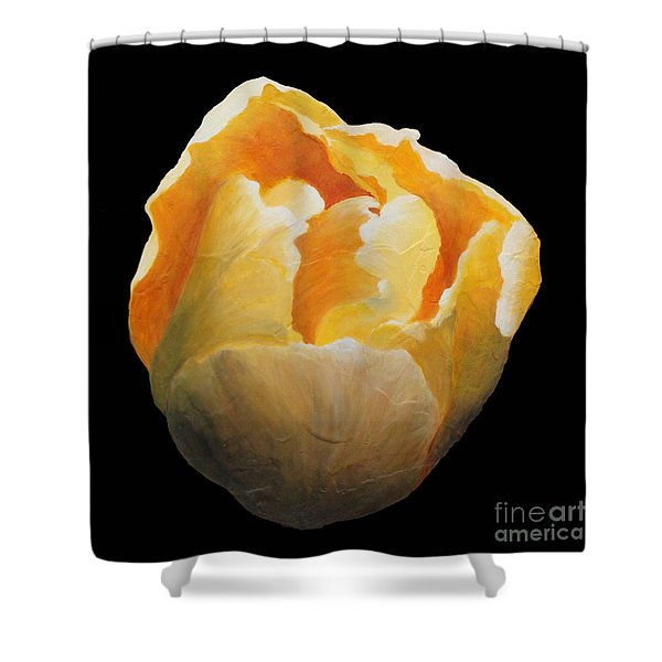 Golden Double Tulip Shower Curtain