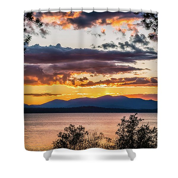 Golden Equinox Shower Curtain