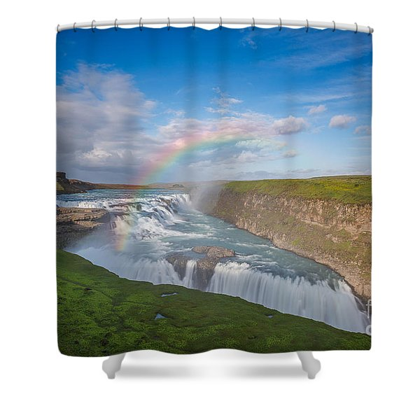 Golden Falls, Gullfoss Iceland Shower Curtain