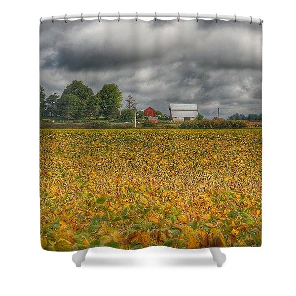 0012 - Golden Fields Farm Shower Curtain
