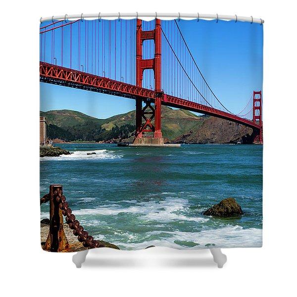 Golden Gate Bridge From Fort Point Shower Curtain