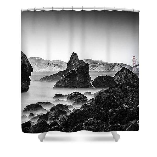 Golden Gate Colour Shower Curtain
