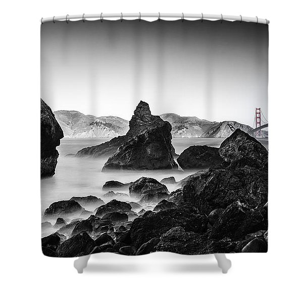 Golden Gate Colour Shower Curtain