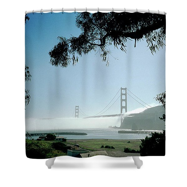 Golden Gate Fog  Shower Curtain