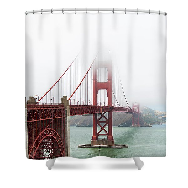 Golden Gate In The Fog Shower Curtain