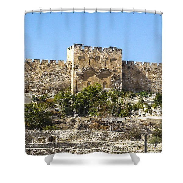 Golden Gate Jerusalem Israel Shower Curtain