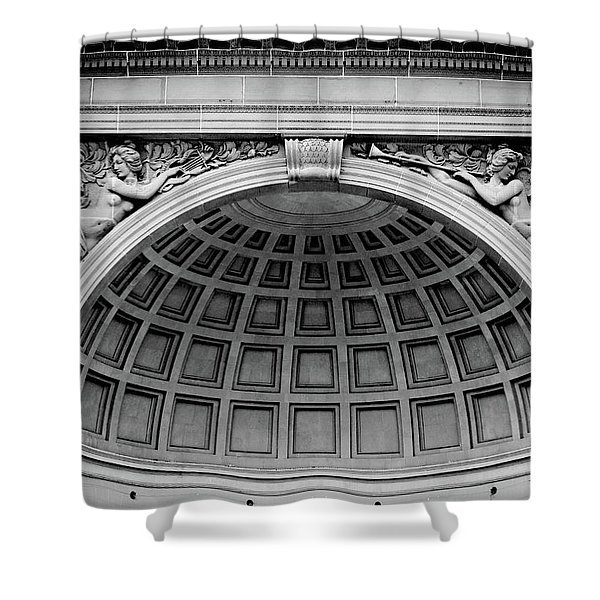 Golden Gate Music Concourse- Art By Linda Woods Shower Curtain