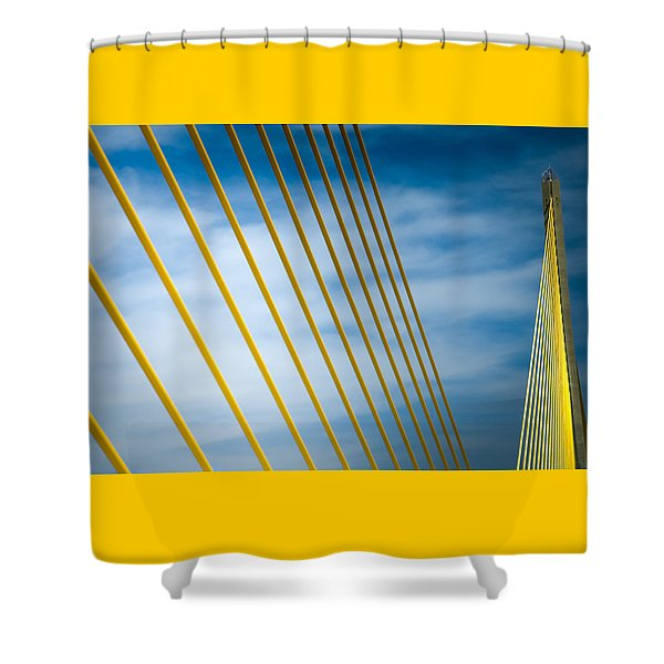 Golden Glow Of Tampa Shower Curtain