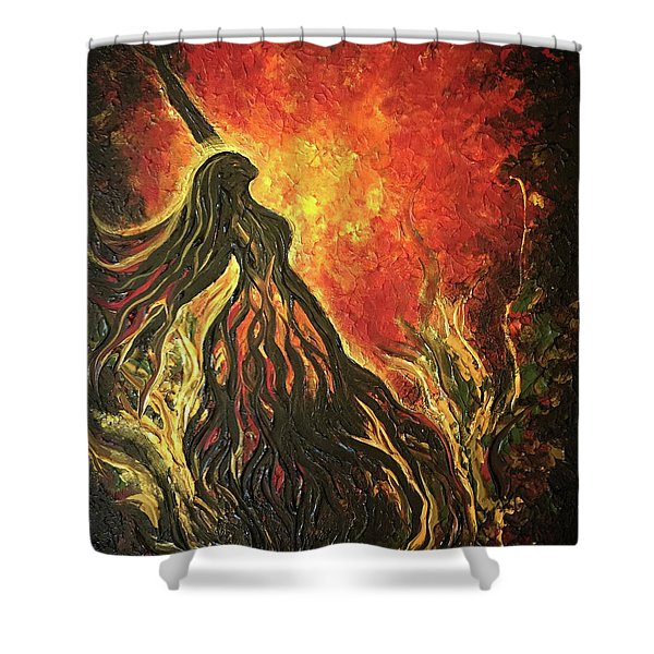 Golden Goddess Shower Curtain