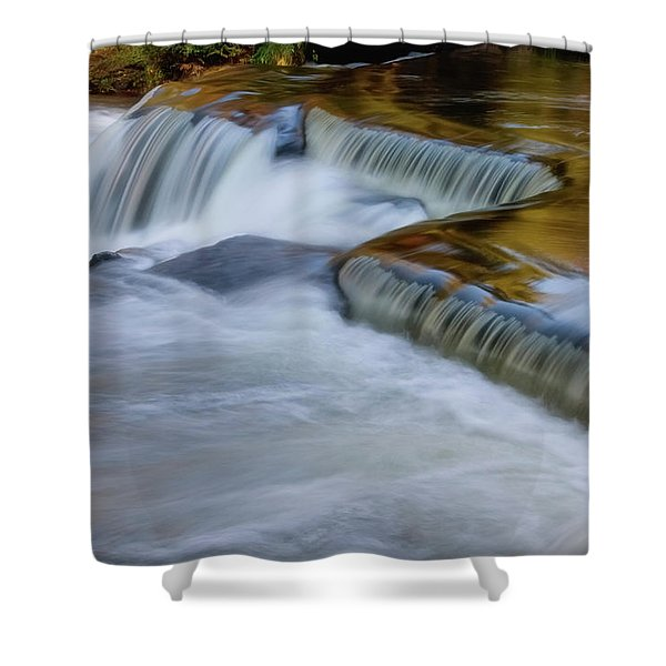 Shower Curtain featuring the photograph Golden by Heather Kenward