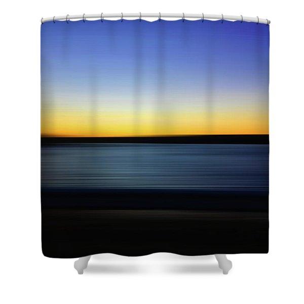 Golden Horizon Shower Curtain