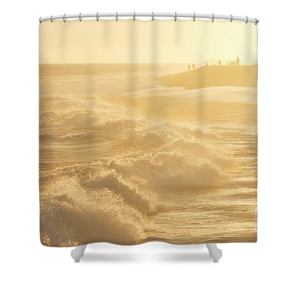 Golden Hour At The Wedge Shower Curtain