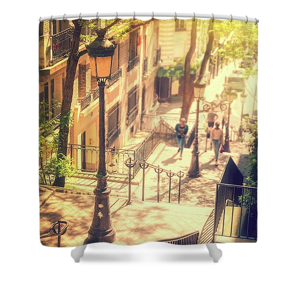 Golden Light In Montmartre, Paris Shower Curtain