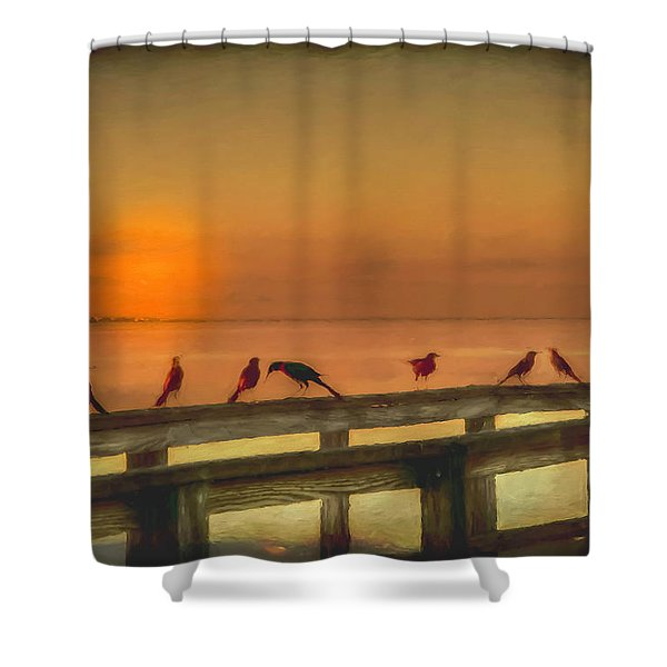 Golden Moment Shower Curtain