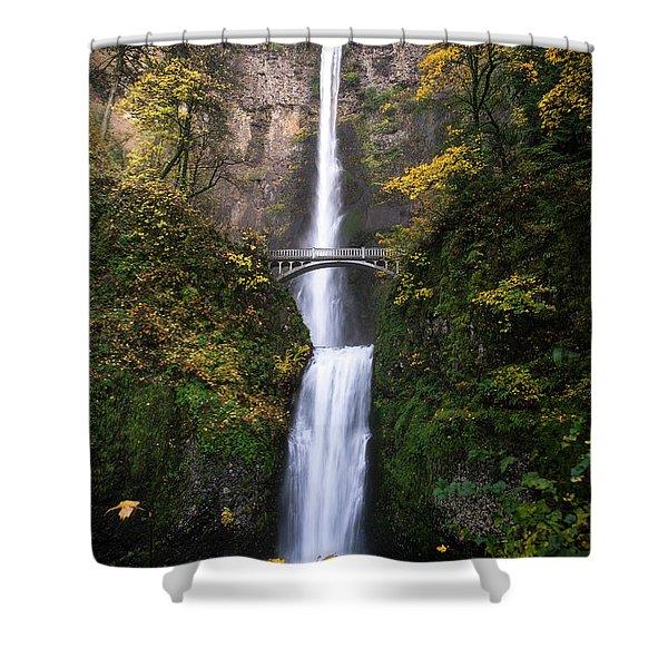 Golden Multnomah Shower Curtain