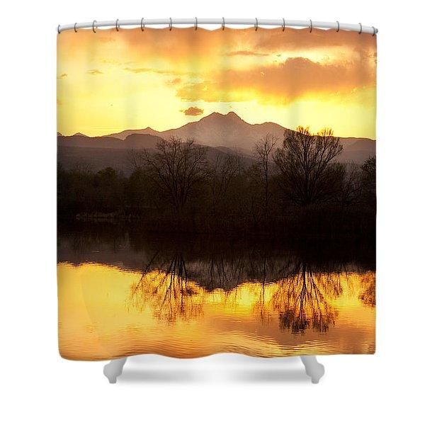 Golden Ponds Longmont Colorado Shower Curtain