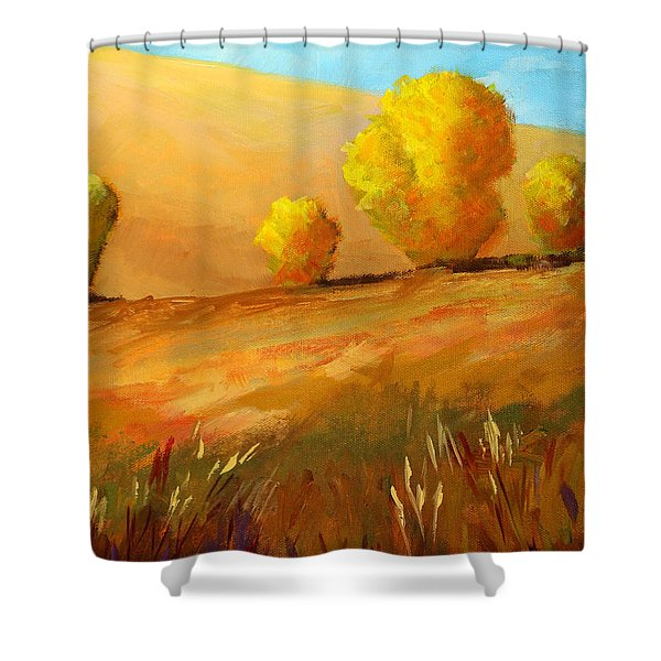 Golden Prairie Shower Curtain