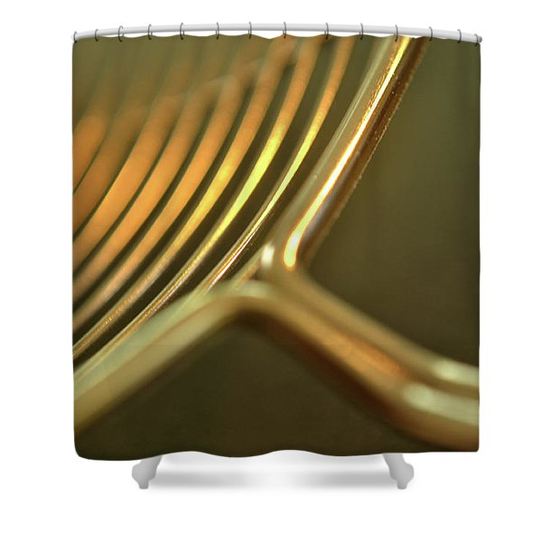 Golden Rings Shower Curtain