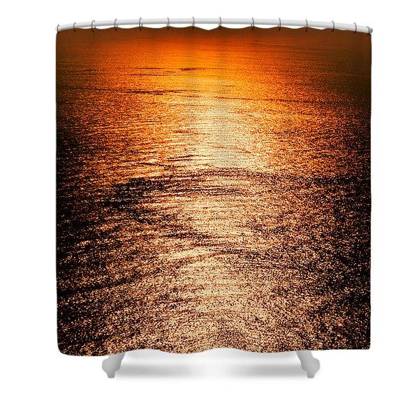 Golden Sea In Alanya Shower Curtain