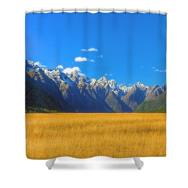 Golden Sea Shower Curtain